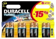 Элемент питания DURACELL Turbo AAА 1.5V LR03 8шт
