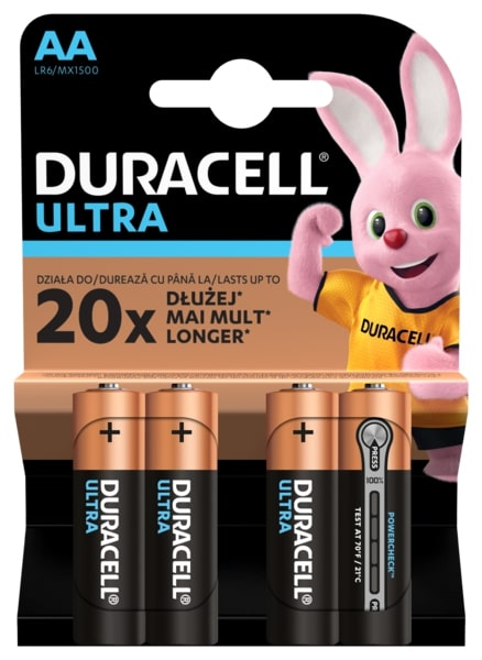 Элемент питания Duracell LR6-4BL Ultra Power